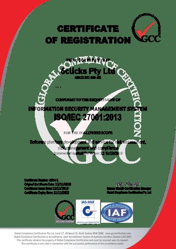 Blurred Address - GCC Certificate ISO 27001 - 425-I-1 - 6clicks
